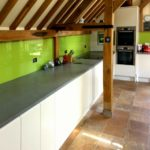 coloured splashbacks in Harlow