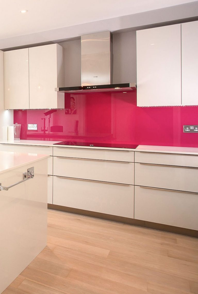 Coloured Glass Cooker Splashbacks North London