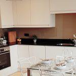 kitchen with new splash backs